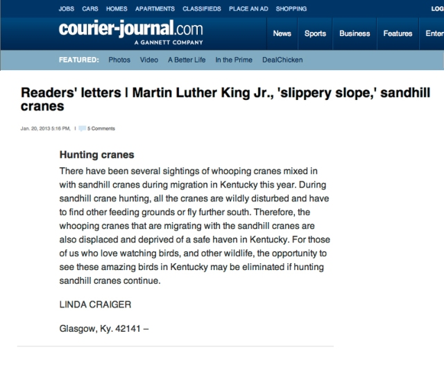 Courier Journal Letter to Ed._20 Jan 2013
